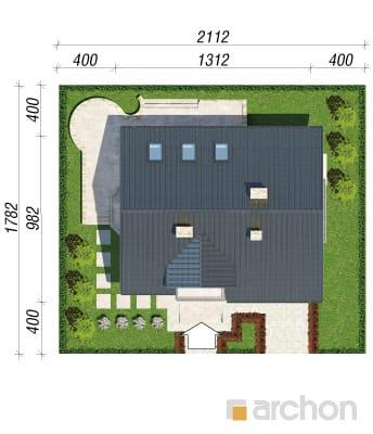 projekt Dom w rododendronach 14 sytuacja