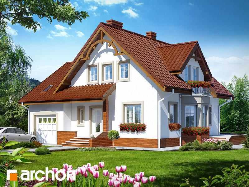 projekt Dom w tamaryszkach 2 widok 1