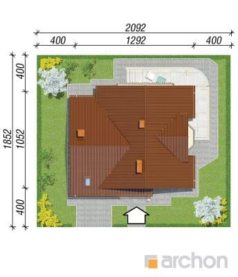 projekt Dom w tamaryszkach 2 sytuacja