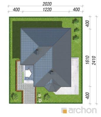 projekt Dom w powojach 2 sytuacja