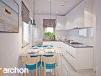 projekt Dom w borówkach (R2) Wizualizacja kuchni 1 widok 1