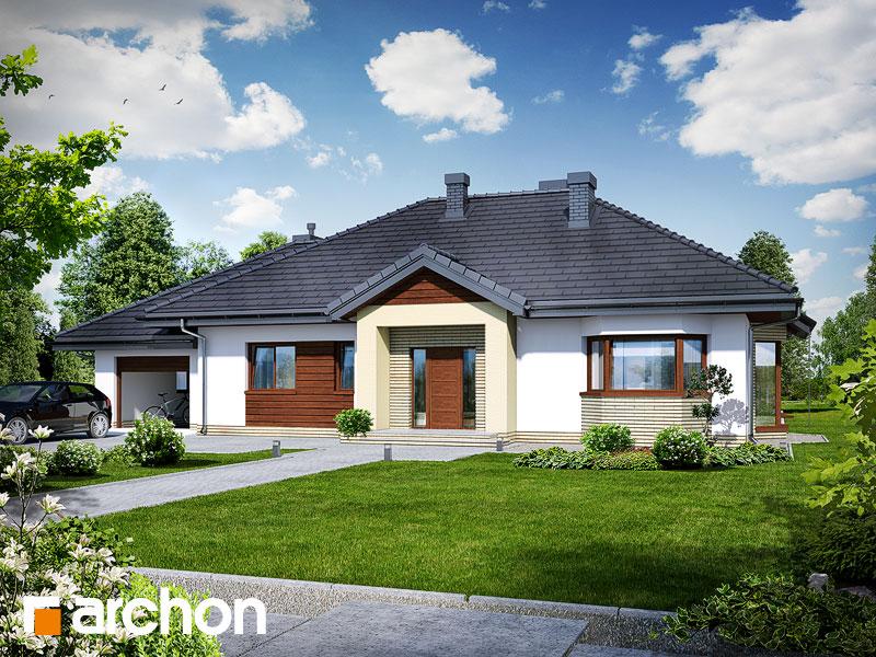 Projekt: Dom w gaurach (N) ver.2 Wizualizacja widok 1
