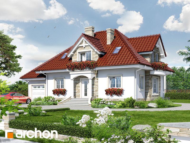 Projekt: Dom w kaliach ver.2 Wizualizacja widok 1