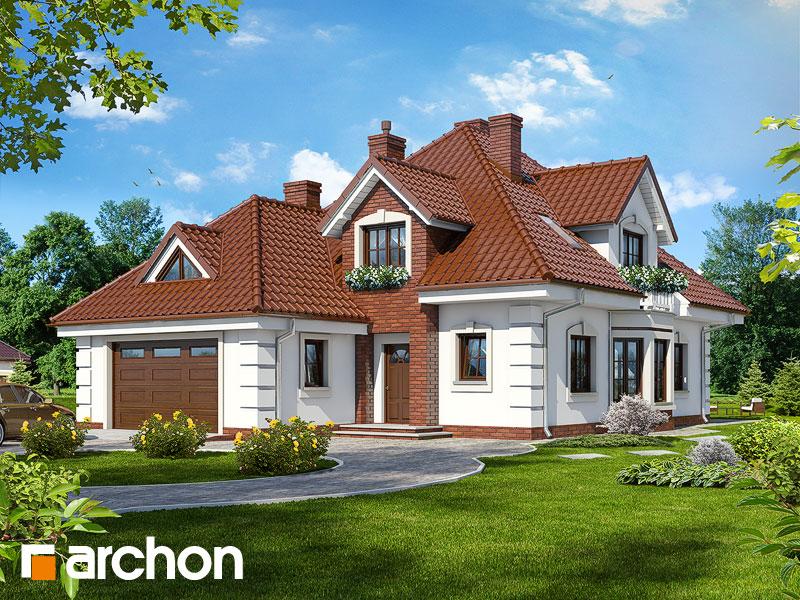 Projekt: Dom w orchideach ver.2 Wizualizacja widok 1