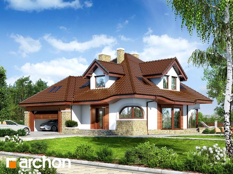 Projekt: Dom w zefirantach (G2) ver.2 Wizualizacja widok 1
