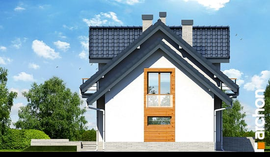 Elewacja boczna projekt dom w perlowce n ver 2  266
