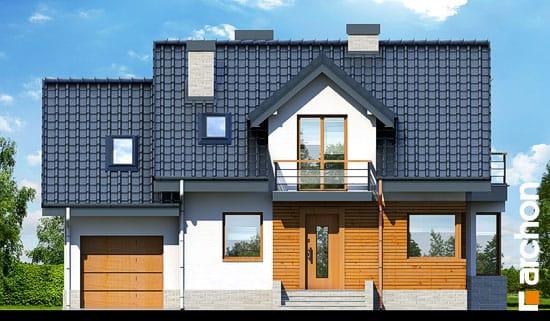 Elewacja frontowa projekt dom w perlowce n ver 2  264