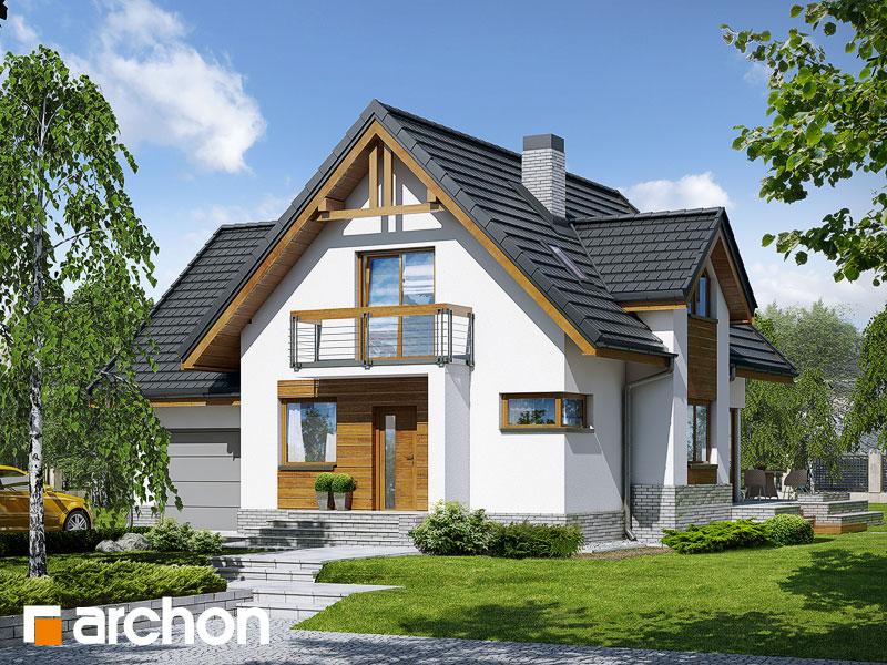 Projekt: Dom w morelach (N) ver.2 Wizualizacja widok 1
