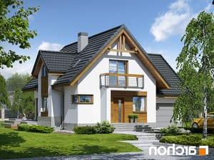 projekt Dom w morelach (N) lustrzane odbicie 1
