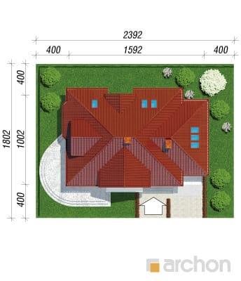 projekt Dom w lubczyku sytuacja