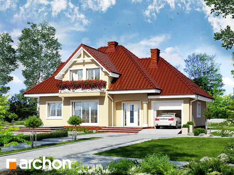 Projekt: Dom w lubczyku ver.2 Wizualizacja widok 1