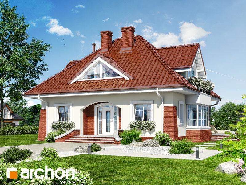 Projekt: Dom w koniczynce ver.2 Wizualizacja widok 1