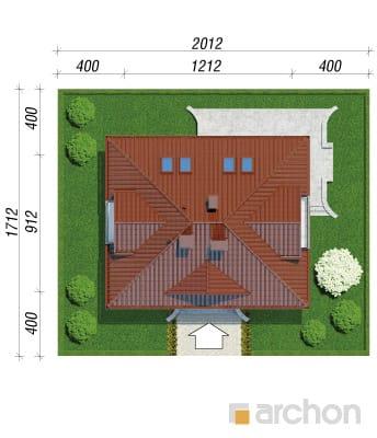 projekt Dom w koniczynce sytuacja