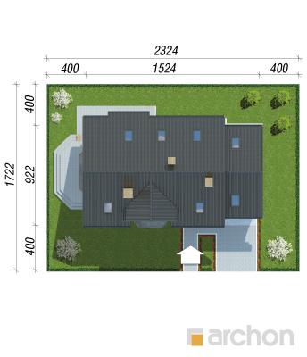 projekt Dom w ananasach 2 sytuacja