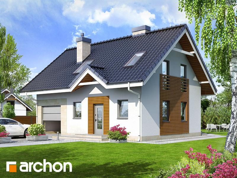 Projekt: Dom w borówkach 2 ver.2 Wizualizacja widok 1