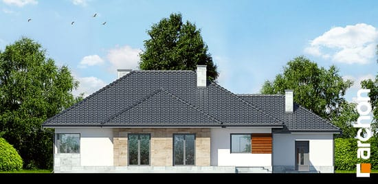 Elewacja ogrodowa projekt dom w akebiach 2 ver 2  267