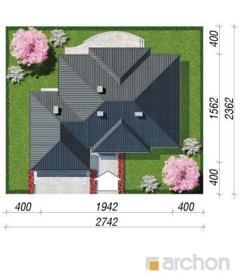 projekt Dom w akebiach 2 sytuacja