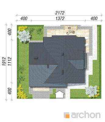 projekt Dom w tamaryszkach 2 (N) sytuacja