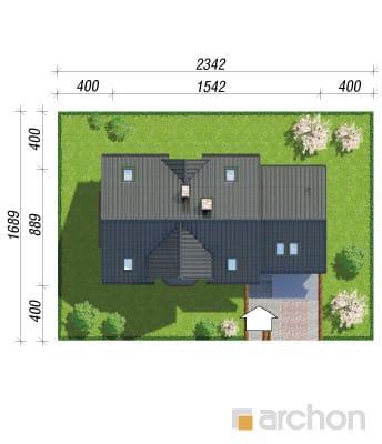 projekt Dom w żurawinie 2 sytuacja