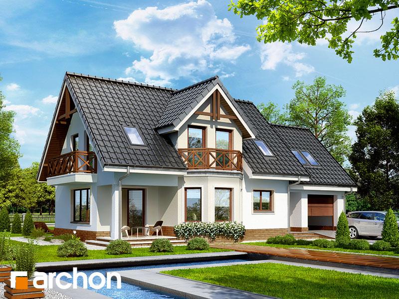 projekt Dom w żurawinie 2 widok 1