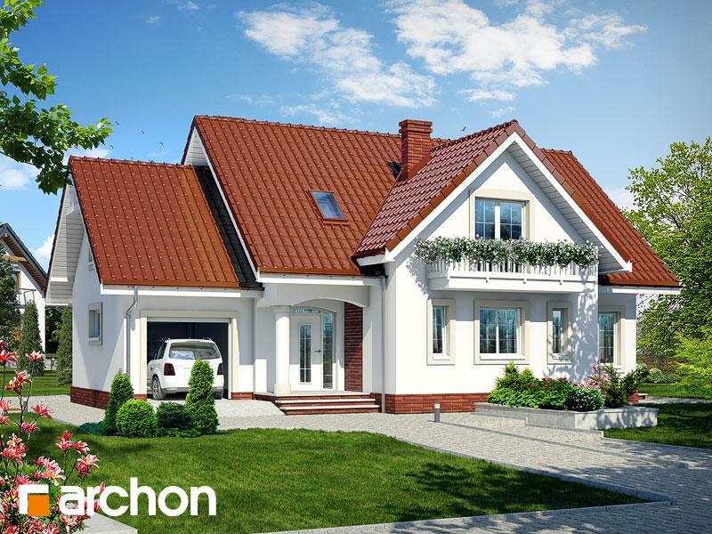 Projekt: Dom w lobeliach ver.2 Wizualizacja widok 1