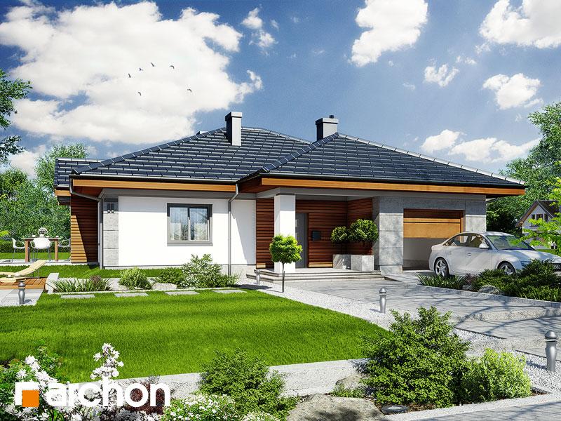 Projekt: Dom w jonagoldach ver.2 Wizualizacja widok 1