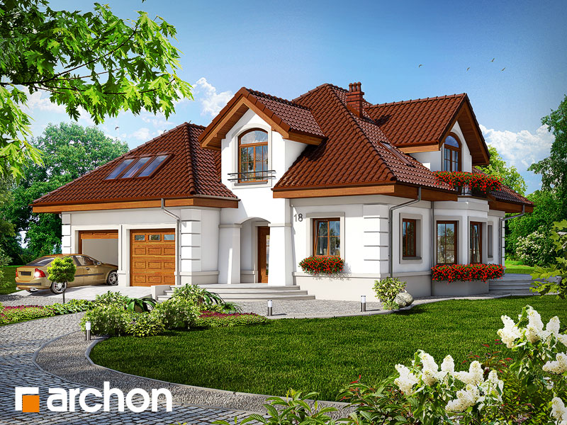 Projekt: Dom w bergamotkach (G2) ver.2 Wizualizacja widok 1