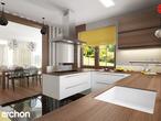 projekt Dom w bergamotkach (G2) Aranżacja kuchni 1 widok 1