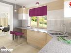 projekt Dom w bergamotkach (G2) Aranżacja kuchni 2 widok 2