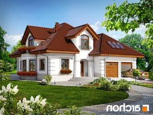 projekt Dom w bergamotkach (G2) lustrzane odbicie 1
