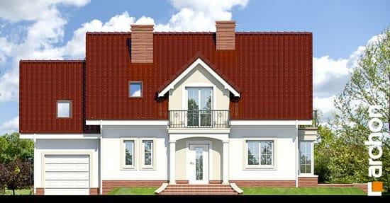 Elewacja frontowa projekt dom w werbenach 2 ver 2  264