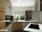projekt Dom w wisteriach Aranżacja kuchni 1 widok 1