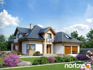 projekt Dom w bergamotkach (G2N) lustrzane odbicie 1