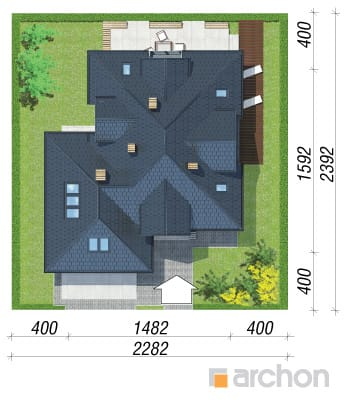 projekt Dom w bergamotkach (G2N) sytuacja