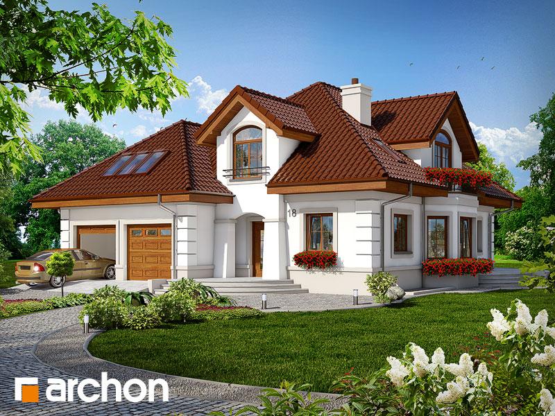 Projekt: Dom w bergamotkach (G2P) ver.2 Wizualizacja widok 1