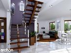 projekt Dom w bergamotkach (G2P) Strefa dzienna (wizualizacja 1 widok 1)