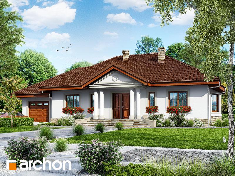 Projekt: Dom w gaurach ver.2 Wizualizacja widok 1