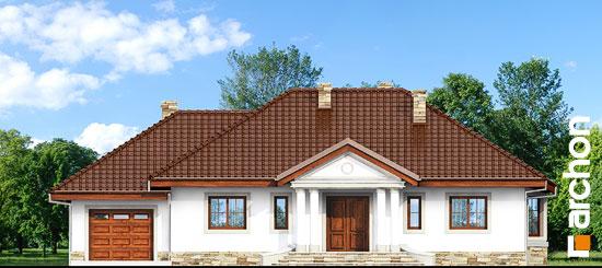 Elewacja frontowa projekt dom w gaurach ver 2  264