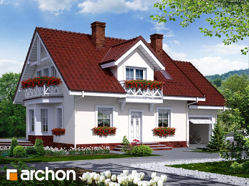 Projekt: Dom w rododendronach 6 ver.2 Wizualizacja widok 1