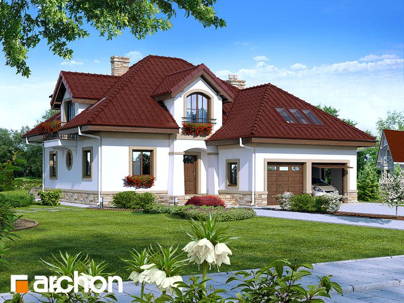 Projekt: Dom w jastrunach ver.2 Wizualizacja widok 1
