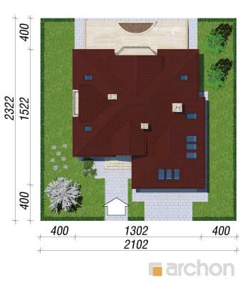 projekt Dom w jastrunach sytuacja
