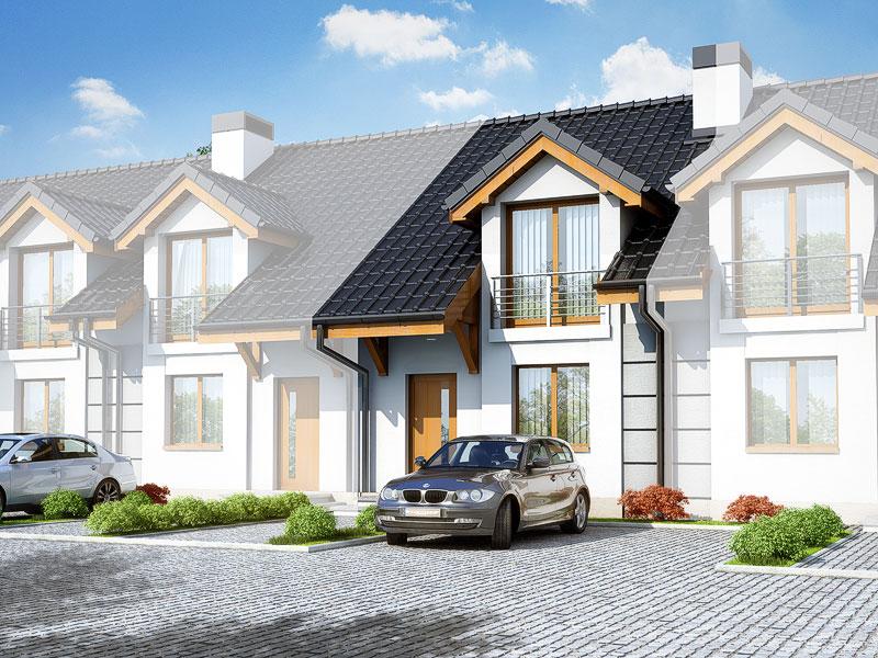 Projekt: Dom pod miłorzębem ver.2 Wizualizacja widok 1