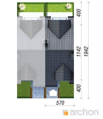 projekt Dom pod miłorzębem sytuacja