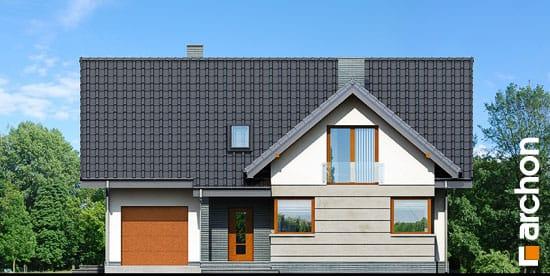 Elewacja frontowa projekt dom w skrzydlokwiatach ver 2  264