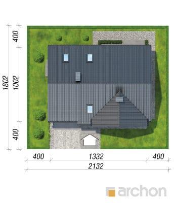 projekt Dom w skrzydłokwiatach sytuacja
