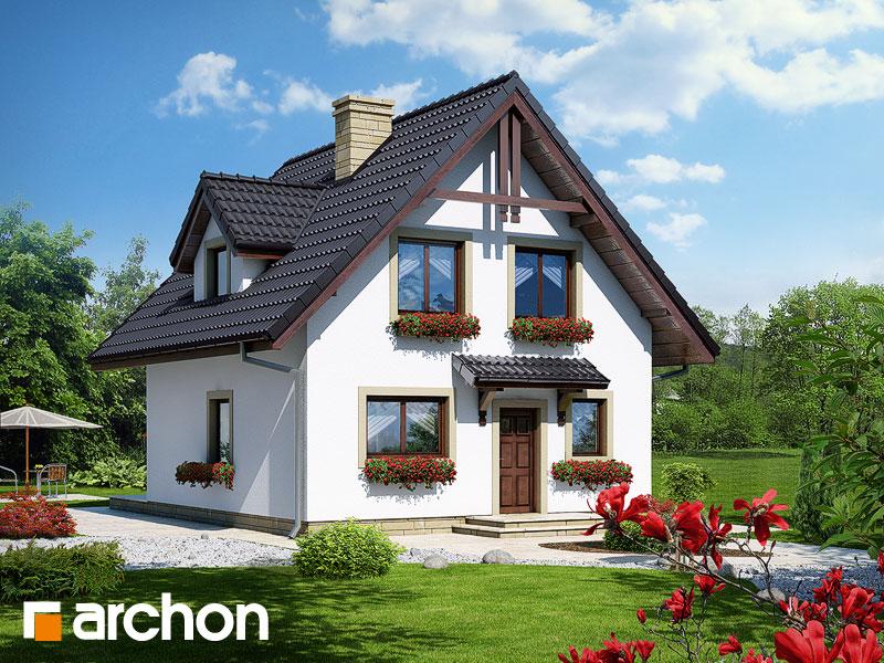Projekt: Dom na wzgórzu ver.2 Wizualizacja widok 1