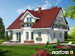 projekt Dom w rododendronach 3 lustrzane odbicie 2