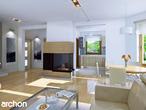 projekt Dom w rododendronach 5 (W) Strefa dzienna (wizualizacja 1 widok 1)