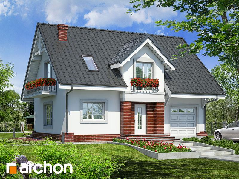 Projekt: Dom w lucernie ver.2 Wizualizacja widok 1
