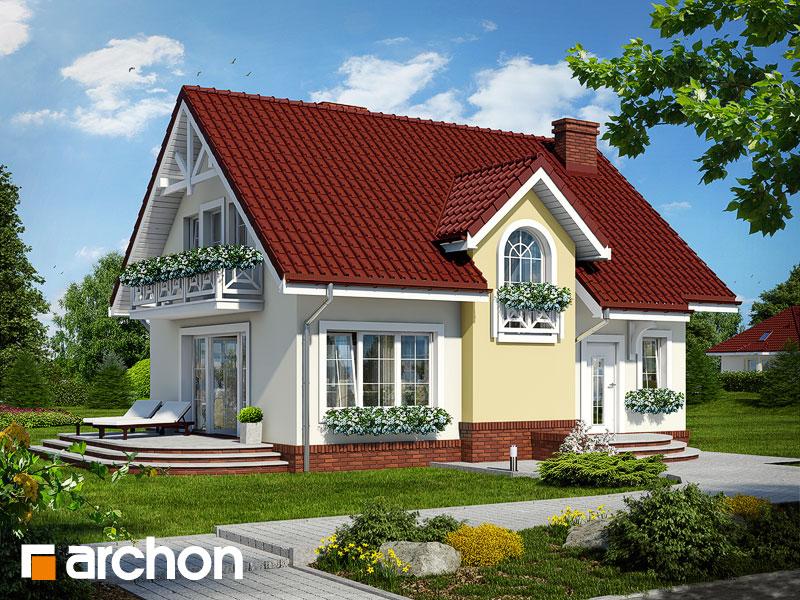 Projekt: Dom w lukrecji ver.2 Wizualizacja widok 1